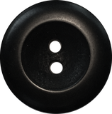 Black Corozo Round Wide Rim Velvet2-Hole Button,4 sizes