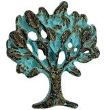 "Tree of Life Small Turquoise Patina Metal Button 5/8""  #SWC-48"