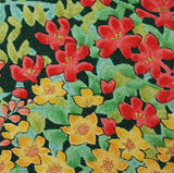 "Thousand Flowers Vintage Silk Kimono Pieces, 7"" x 55""   #3868"