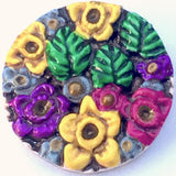 "Daffodils Art Button, 1-1/8"" by Susan Clarke"