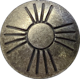 "Antique Rustic Concho Button Sun Zia Symbol, 3/4"" #SW-91"