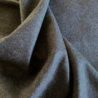 SALE Charcoal Heather Italian Felted Wool, Per Yard #8993