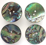 "Greens & Blues Vivid Abalone 7/8"" Button"