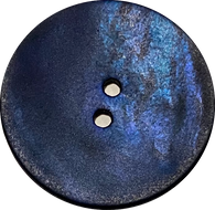 "Indigo Velvet Large Agoya Shell 1-1/8"" 2-hole Button, #1207"