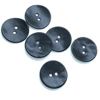 "Black Velvet Agoya Shell 3/4"" 2-hole Button, Pack of 5 for $7.25   #1205"