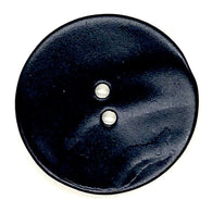 "Large Black Velvet Agoya Shell 1-1/8"" 2-hole Button,  #1204"