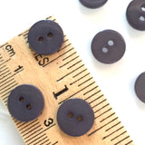 "Violet Gray Small Shell Buttons 7/16"" Pack of 10 $4.75"