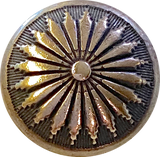 "Mesa Sunflower Dark Brass/Black Concho Button 5/8"", #SW-83"