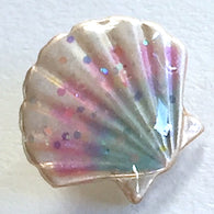 Tiny Sea Shell Enamel Button by Susan Clarke Designs