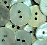 "Shiny Light Green Agoya Shell 5/8"" 2-hole Button, Pack of 8 for $7.20   #1247"