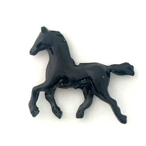 Metal Horse Button, Black or Brown 3/4""