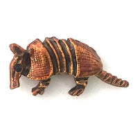 Armadillo Button, Copper Metal by Susan Clarke, 3/4""