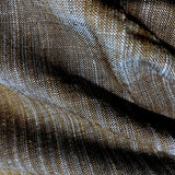 Steel Blue / Brown Yarn-Dyed Rustic Stripes Cotton Woven, 1.5 yard piece, #CHL-130
