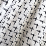 Cream/Black Cotton Crosses Ikat, by the Yard #CHL-122