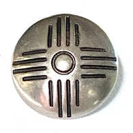 "Sixteen Rays Sun Zia Small Concho Button Nickel Silver 1/2""  #SW-37"