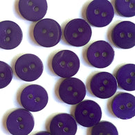 "Bright Dark Purple Small Shell Button 7/16"" Pack of 10 $4.75"