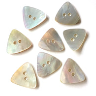 "Pearly Off-White Shell Triangle Button, 3/4"", 5 for $5.75"