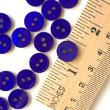 "Royal Cobalt Bright Blue Shell Button 7/16"" Pack of 10 $4.75"