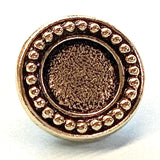 "Beaded Bezel Button, Round 1/2"" Antique Gold/Black (6587-26)"