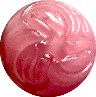 Pink Opaque Etched Vintage Glass Button # GL320