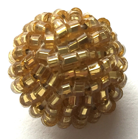 "Gold Beaded Vintage Pom Pom Buttons 5/8"" # GL322 SALE $1.85 each"