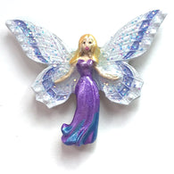 Purple Angel Fairy Button, 1-1/2""