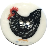 chicken plymouth rock rooster button