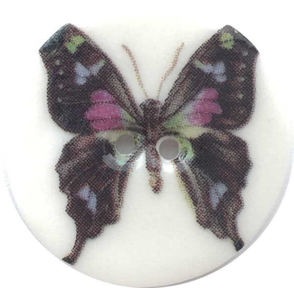 "Butterfly Porcelain Buttons, 7/8"" Small Size, 6 Options"