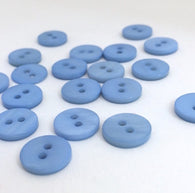 "Light Blue 7/16"" Shell Buttons TEN for $4.75."