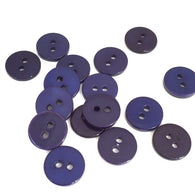 "Indigo Shine, Dark Purply-Blue Shell Buttons, 7/16""   20 for $7.00"