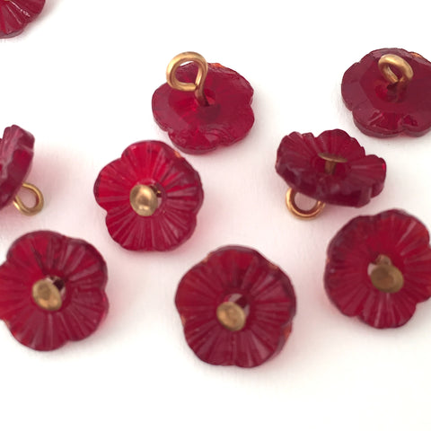 "Red Forget Me Not Button 3/8"" # GL326"