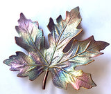 Maple Leaf Button Large Handmade Metal Enamel