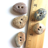 Beach Stone Buttons, 5 Mixed Colors # BCH-16