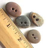 Beach Stone Buttons, 4 Mixed Colors # BCH-17
