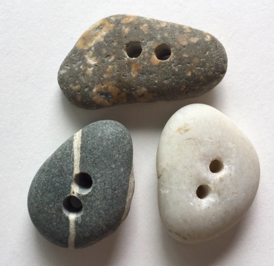 Beach Stone Buttons, 3 Mixed Colors # BCH-20