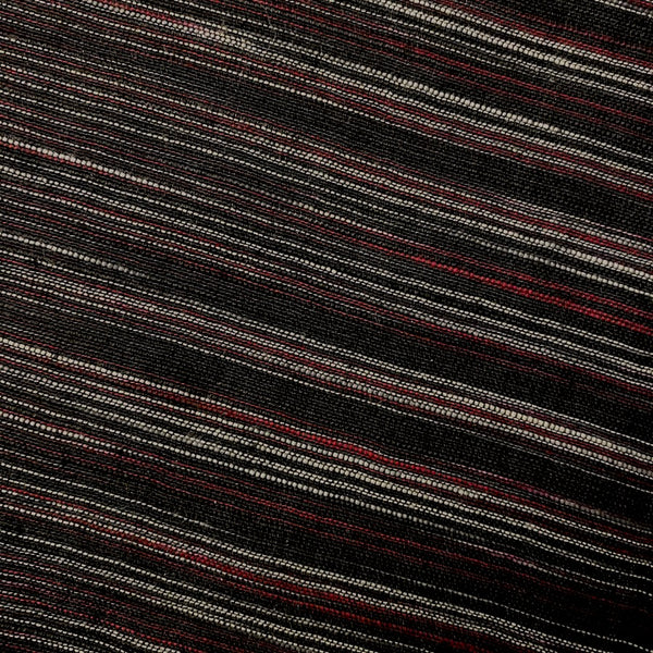Black Cabernet Rustic Stripe Cotton Woven, by the yard  #CHL-118