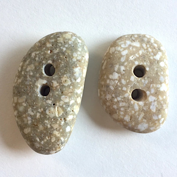 "Beach Stone Buttons, Two 1"" Speckled # BCH-24"