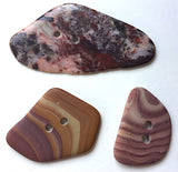 Fancy Stone Buttons, 3 Mixed Large # BCH-28