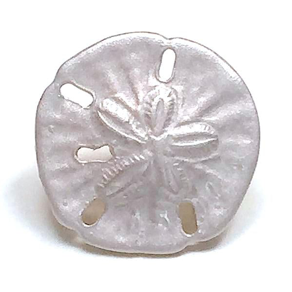 "Tiny Sand Dollar Button by Susan Clarke, 3/8"", Shimmery Pearl"