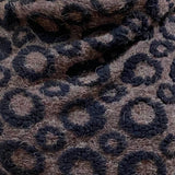 Black Bubbles Boiled Wool/Mohair By the Half Yard. Italy. Designer.