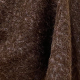 Espresso Mandala Boiled Wool/Mohair By the Half Yard, Designer Italian