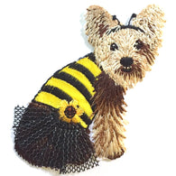 Dog in Bee Costume Patch/Applique Iron-On. Embellishment, Puppy