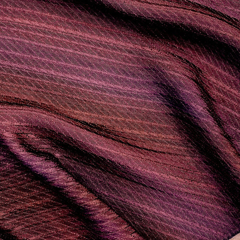 Copper-Berry Ombre Stripe Kimono Silk by the Yard #474677