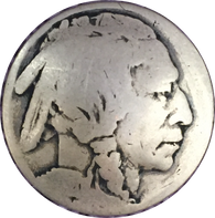 Authentic Indian Head/Buffalo Nickel Button 7/8""