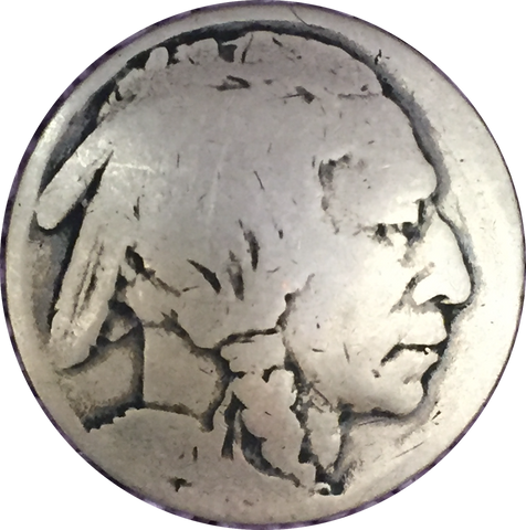 Genuine Indian Head Nickel Concho Button