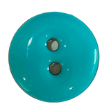 "Turquoise Shiny Coconut 11/16"" 2-hole Button #SWC-45"