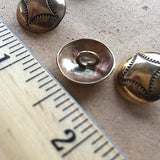 "Four Corners Shiny Brass Concho Button 5/8"" # WN13B"