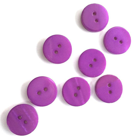 "Bright Purple River Shell 5/8"" 2-hole Button, Pack of 8 for $8.00  #1779"