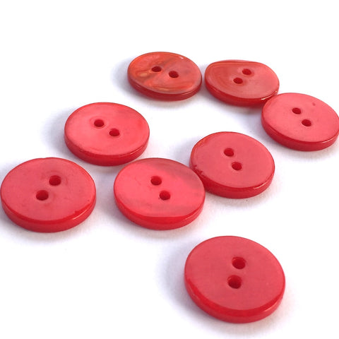 "3/8"" Red River Shell 2-hole Button, TEN for $8.00  #2256"