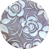 White Roses Etched on Taupe Shell, 2 sizes